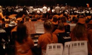 Kinderen maken muziek concert