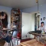 Studio opnames Annika Lelivelt & Robert Nicolai